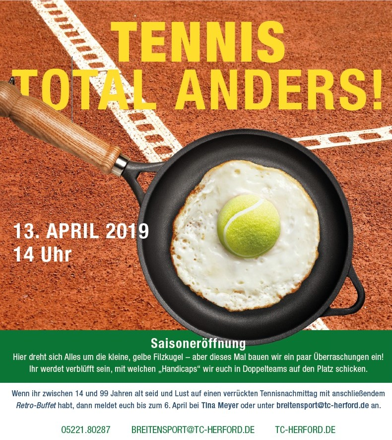 Saisoneröffnung 2019 - Tennis Total anders